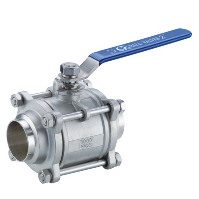 3 PC health welded ball valve